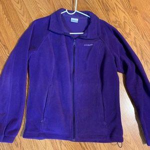 Dark Purple Columbia Fleece Jacket